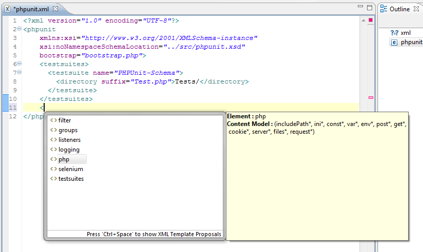 PHPUnit Code Completion in Zend Studio